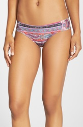 Lucky Brand 'Bohemian Delights' Hipster Bikini Bottoms Pink Multi