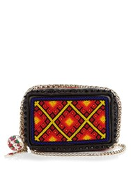 Christian Louboutin Piloutin Bead Embellished Leather Clutch