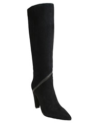 William Rast Beth Knee High Suede Boots Black