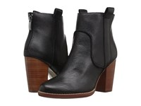 French Connection Avabba Black Tumbled Leather Women's Shoes
