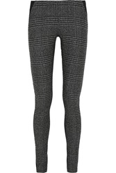 Donna Karan Wool Blend Twill And Jersey Leggings