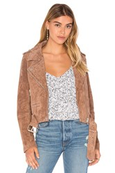 Blank Nyc Suede Moto Jacket Taupe
