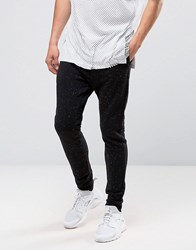 Weekday Long J Sweat Pants Black Melange Black 09 090