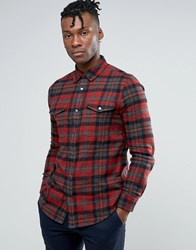 New Look Check Shirt In Red In Regular Fit Red