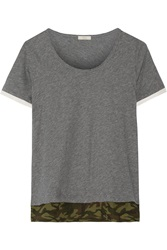 Clu Camouflage Trimmed Cotton Top