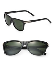 Montblanc 56Mm Injected Square Shaped Sunglasses Black