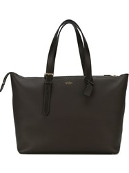 Smythson 'Burlington Buckle' Tote Brown