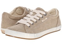 Taos Star Khaki Washed Canvas Women's Lace Up Casual Shoes