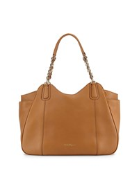 Melinda Medium Chain Strap Tote Bag Sienne Salvatore Ferragamo