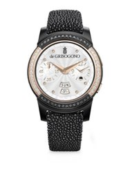 De Grisogono Samsung For Diamond 18K Rose Gold And Stingray Strap Smartwatch Black