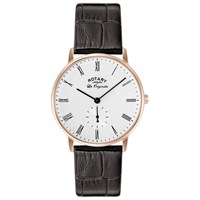 Rotary Gs90053 01 Men's Les Originales Kensington Leather Strap Watch Brown White