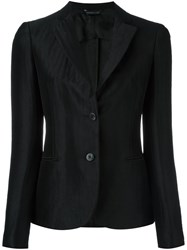 Tonello Silk Effect Fitted Blazer Black