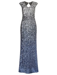 Phase Eight Collection 8 Charlie Sequin Maxi Dress Silver Blue