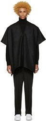Undecorated Man Black Felted Poncho