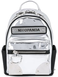 Nicopanda Logo Patch Backpack Metallic