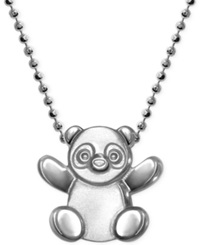Little Cities By Alex Woo Panda Pendant Necklace In Sterling Silver
