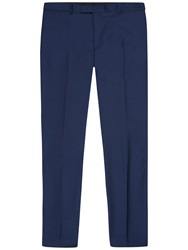 Jaeger Wool Twill Modern Fit Suit Trousers French Navy