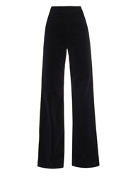 Alexa Chung For Ag The Laura High Rise Wide Leg Corduroy Trousers