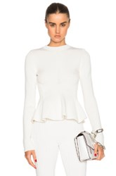 Victoria Beckham Cotton Rib Corset Jumper In White