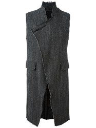 Lost And Found Ria Dunn Long Waistcoat Black