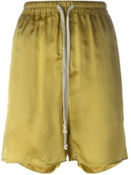 Rick Owens Loose Fit Shorts Yellow And Orange