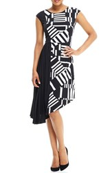 London Times Women's Asymmetrical Midi Dress