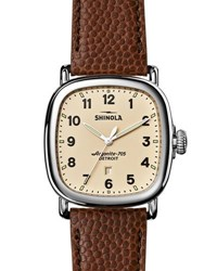 Shinola 41Mm Guardian Men's Watch Brown Cream