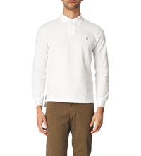 Ralph Lauren Customfit Pique Polo Shirt White
