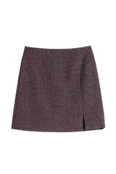 Carven Tweed Mini Skirt With Wool Multicolor