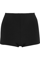 Balmain High Rise Stretch Knit Shorts