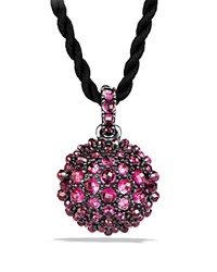 David Yurman Osetra Pendant Necklace With Rhodalite Garnet Pink Black