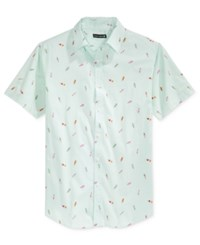 Ocean Current Men's Push Pop Print Short Sleeve Shirt Fresh Mint