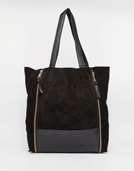 Warehouse Zip Around Shopper Black