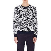 Tim Coppens Men's Mushroom Top Intarsia Sweater Navy