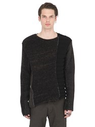 Isabel Benenato Patchwork Wool Knit Sweater