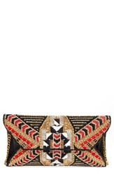 Natasha Couture Embellished Envelope Clutch