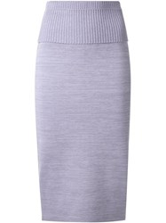 Dion Lee 'Density' Knit Skirt Pink And Purple