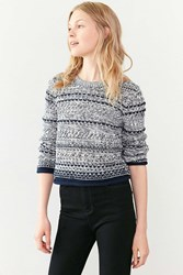 Cooperative Multi Stitch Pullover Sweater Blue Multi