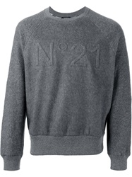 N 21 N.21 Logo Sweater Grey