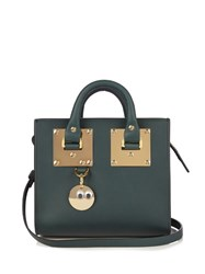 Sophie Hulme Mini Albion Box Leather Cross Body Bag Dark Green