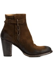 Silvano Sassetti Zipped Ankle Boots Brown
