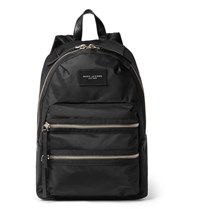 Marc Jacobs Leather Trimmed Canvas Backpack Black