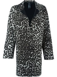 Norma Kamali Cheetah Print Coat Black