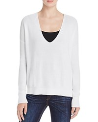 Rag And Bone Jean Taylor Washed V Neck Sweater White
