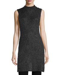 Elizabeth And James Sleeveless Mock Neck Tunic Charcoal