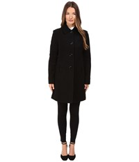 Kate Spade 4 Button A Line Single Breasted Coat W Bow Pockets Black Women's Coat