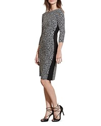 Ralph Lauren Printed Sheath Dress Black Cream