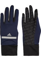 Adidas By Stella Mccartney Run Stretch Knit And Mesh Gloves