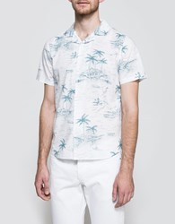 Native Youth Hawaii Sketch Print S S Shirt White