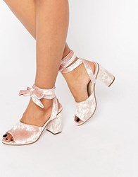 Asos Hitch A Ride Lace Up Mules Pink